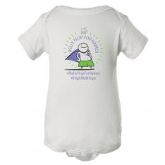 Belly Flop for Babies Onesie (White)